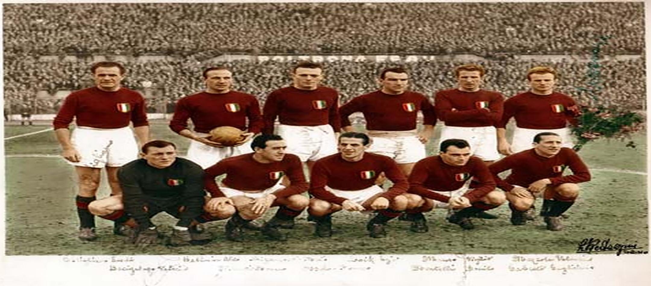 Fotografia della storica squadra del Grande Torino