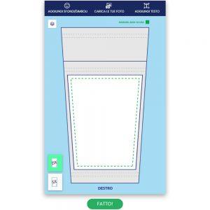 Configuratore online di gambali personalizzati