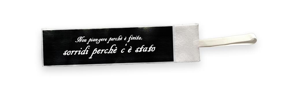 Fascia da lutto con scritta personalizzata