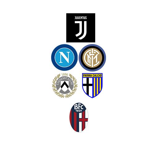 Stemmi delle squadre di serie A che hanno modificato il loro logo
