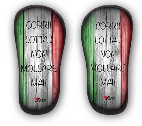 Parastinchi personalizzati in carbonio con bandiera italiana