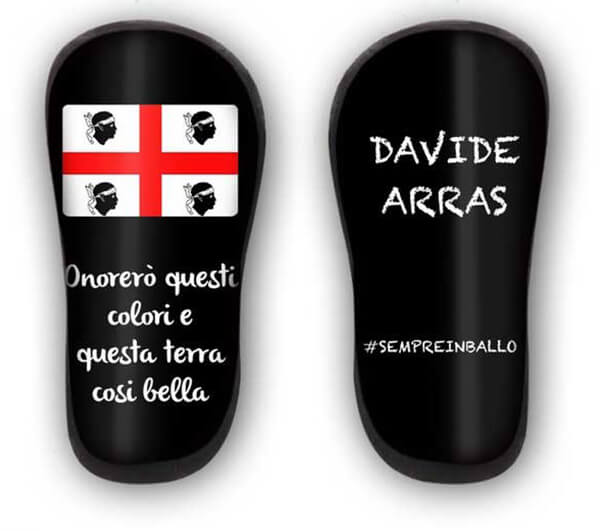 Parastinchi in carbonio personalizzati con bandiera della Sardegna